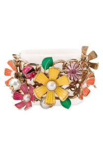 Betsey Johnson Flower Girl Toggle Bracelet