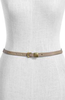Halogen® Triple Keeper Skinny Leather Belt