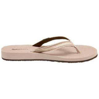 Cobian Kara Womens Solid Flip Flops Sandals Shoes 7 Medium M Taupe