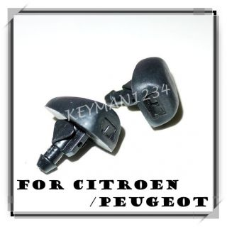 2X Citroen Peugeot Windscreen Windshield Wiper Nozzles Mist Washer