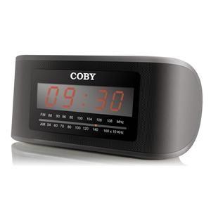 Coby CRA50 Blk Digital Am FM Alarm Clock Radio New