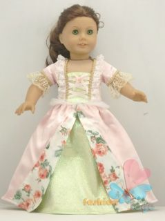 Luxury Doll Clothes Outfit Court Dress for 18American Girl New