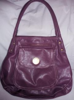 Liz Claiborne Access Purple Hobo Double Strap Multi Pocket Handbag