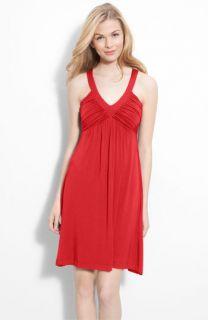 Calvin Klein Ruched Bodice Jersey Dress