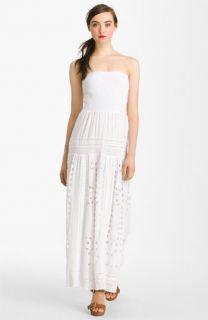 MICHAEL Michael Kors Strapless Eyelet Maxi Dress (Petite)
