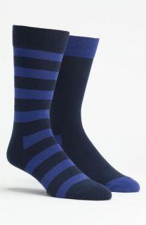 Happy Socks Stripe & Solid Socks (2 Pack)