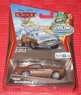 DISNEY PIXAR CARS 2 COLOR CHANGERS FINN MCMISSILE TRU EXCLUSIVE NIP