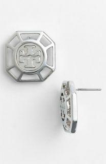 Tory Burch Audrina Logo Stud Earrings