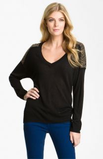 MICHAEL Michael Kors Studded V Neck Sweater
