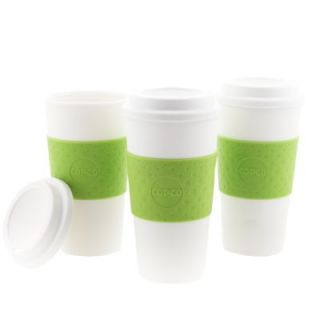 Acadia Hot Cold Reusable Mug Coffee Cup Insulated Green Grip Lid 16oz
