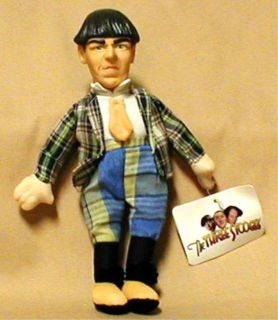 The Three Stooges 8 Moe Plaid Collectible Plush Doll