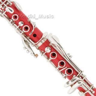 New Wood Finish Black White Red BB Clarinets $39 Gift