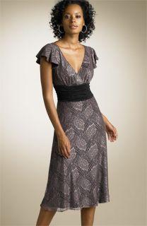 Maria Bianca Nero Flutter Sleeve Lace Dress