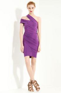 Donna Karan Collection Cold Shoulder Silk Jersey Dress