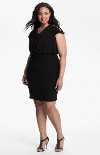 Alex Evenings Embellished Shoulder Jersey Dress (Plus)
