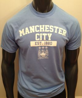 Manchester City College Style Logo T Shirt Tee