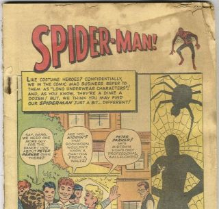 AMAZING FANTASY #15 first Spider Man Reprint in MARVEL TALES #1 from
