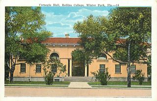 FL Winter Park Rollins College Carnegie Hall T93057