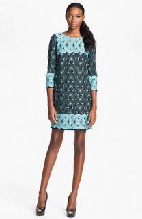 Taylor Dresses Graphic Print Ponte Shift Dress