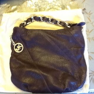 Michael Kors Hobo Collette Aubergine Purple Gorgeous Bag