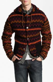 PRPS Fair Isle Hooded Sweater