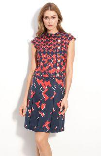Tory Burch Truman Print Silk Dress