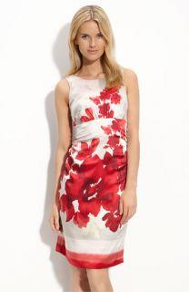Donna Ricco Print Charmeuse Dress (Plus)