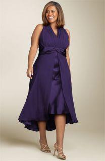 Maggy London Twist Front Silk Dress (Plus)