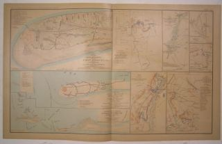 Fort Morgan Mobile Bay Cold Harbor C 1892 Antique Folio Lithograph