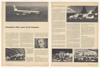 1969 Avianca Colombia Airlines Fifty Years of Air Transport 3 Page