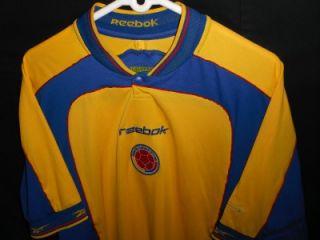 Mens L Vtg Reebok Colombia Jersey Soccer Football Shirt Escobar Don