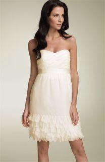 Phoebe Strapless Silk Chiffon Dress