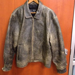 Brown Leather Motorcycle Jacket Colebrook Mens L Thick 5 Lbs