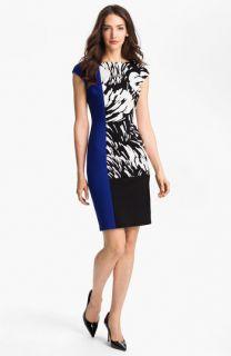 Maggy London Colorblock Print Sheath Dress