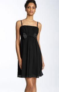 Maggy London Bow Detail Chiffon Dress