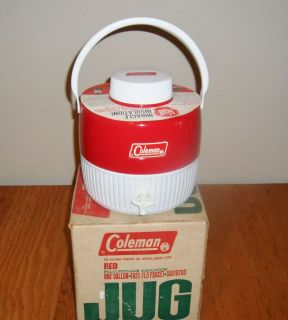Vintage Red Coleman 1 Gallon Water Jug Mint