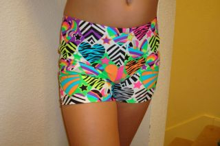 Spandex Volleyball Cheer Gymnastic Dance Animal Print Heart