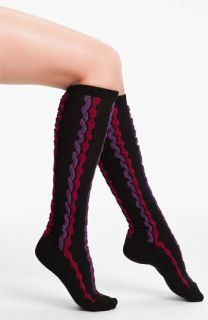 Hot Sox Vertical Stripe Knee High Socks