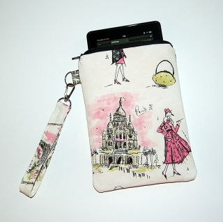 TRES CHIC Nook Color / Kindle Case Cover with Wristlet Strap FREE USA