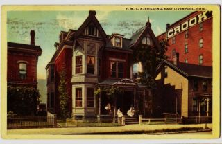 17 East Liverpool Ohio Postcard YWCA Columbiana County
