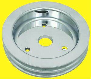 Aluminum Pulley SBC Short Water Pump 2 Groove Pulleys Double Crank