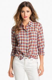 Sandra Ingrish Two Pocket Plaid Shirt