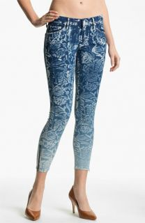 MOTHER The Looker Print Ankle Zip Skinny Jeans (Flowers in the Forest)
