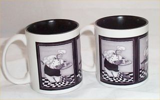 Chef Bistro Ceramic Coffee Mug Kitchen Chefs Mugs Black Gray