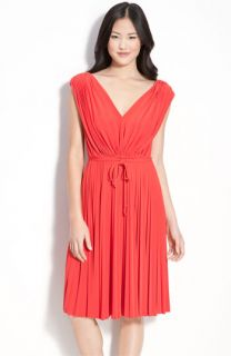 Maggy London Pleated Jersey Dress