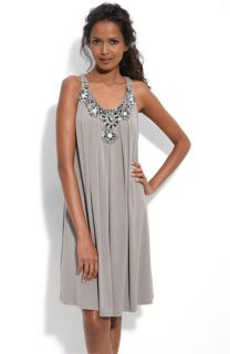 Suzi Chin for Maggy Boutique Beaded Jersey Trapeze Dress