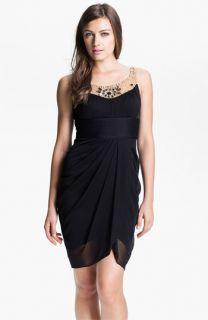 Adrianna Papell Jeweled Yoke Cocktail Dress