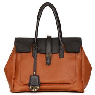 Made in Korea Womens Genuine Leather Tabatha Satchel Handbag Tote