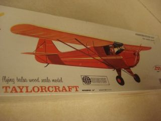 Comet Taylorcraft Balsa Wood Scale Model Airplane Kit SEALED