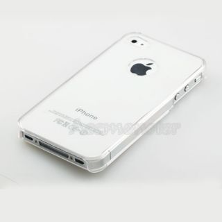 Clear Crystal Hard Plastic Case for Apple iPhone 4S 4G